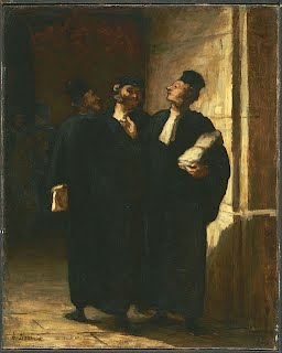 Painting Honore Daumier Three Lawyers